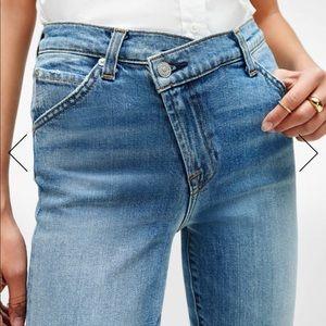 Criss Cross Asymmetric Skinny 7 For All Jeans